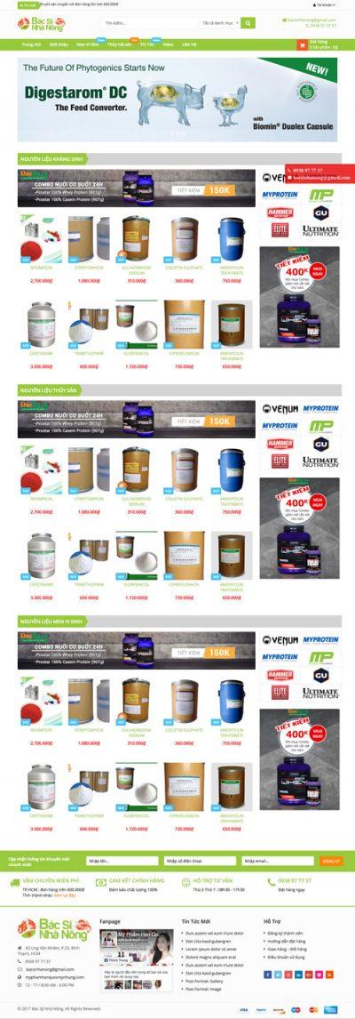 Mẫu web bán hàng 08