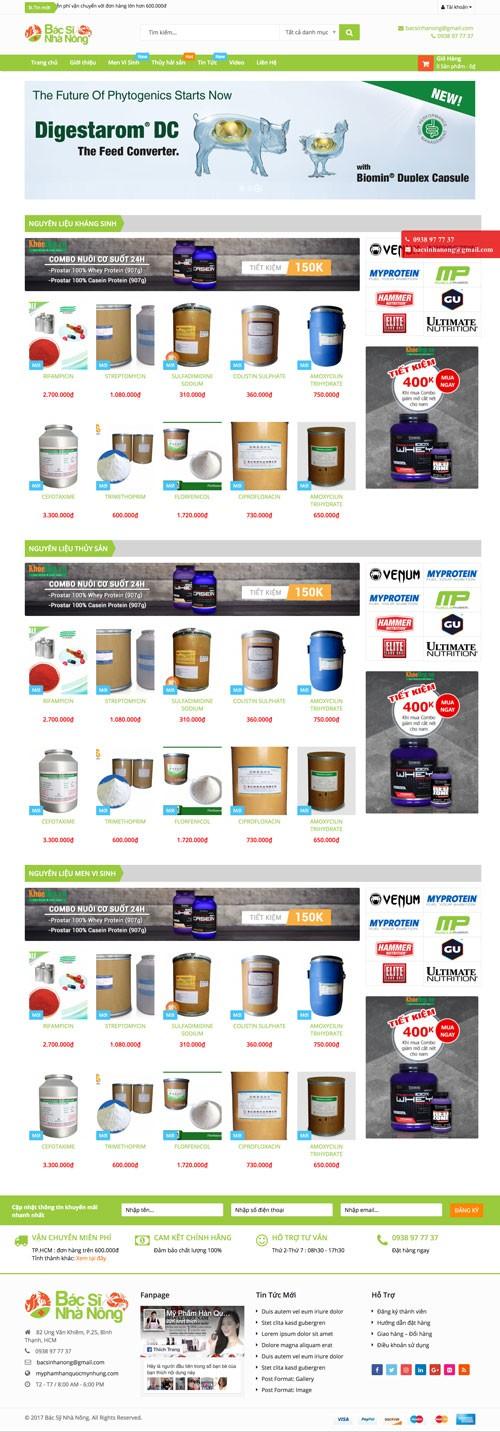 Mẫu giao diện web bán hàng 13
