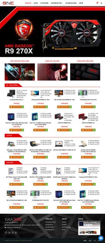 Mẫu web bán hàng 06