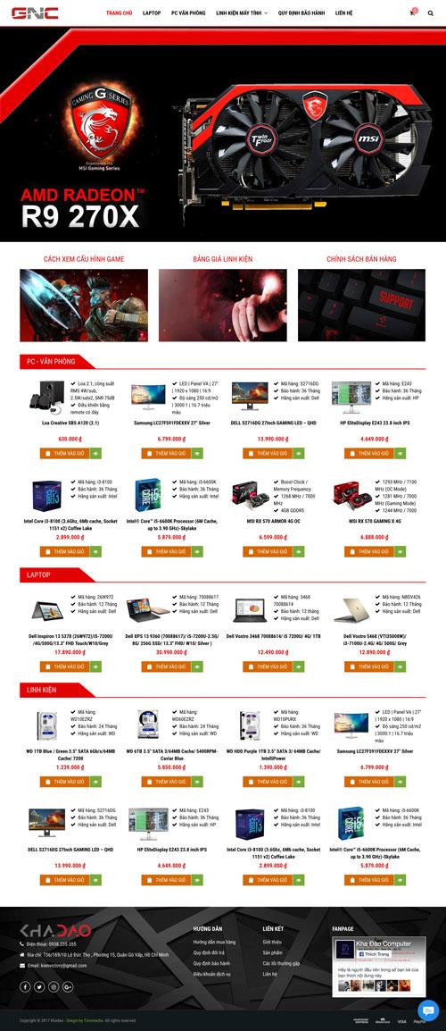 Mẫu giao diện web bán hàng 12