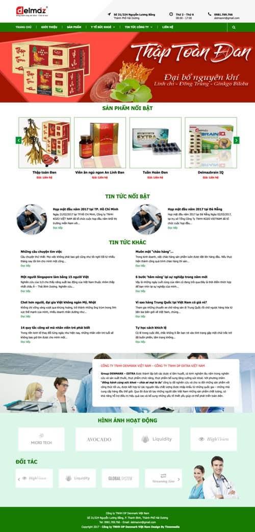 Web giới thiệu công ty 09