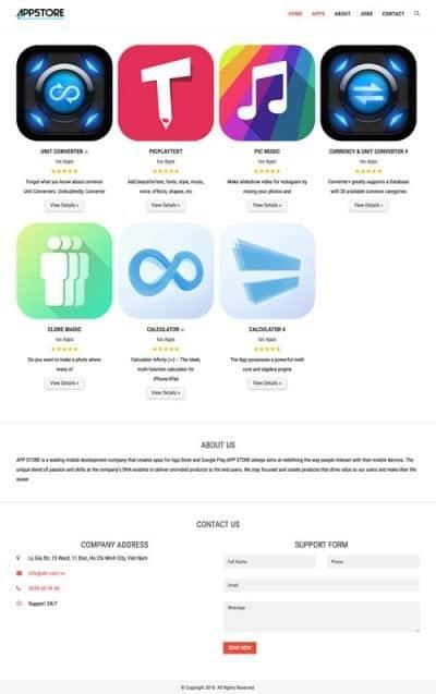 Web giới thiệu công ty 12