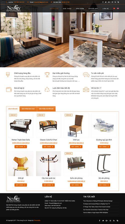 Web giới thiệu công ty 01