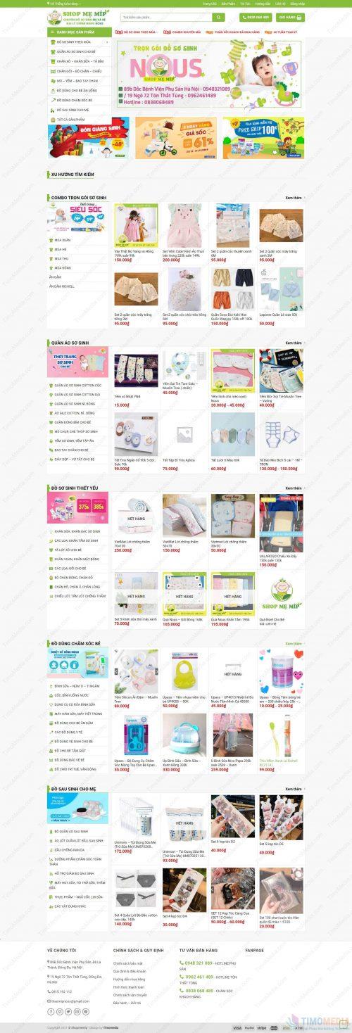 Mẫu website bán hàng 24