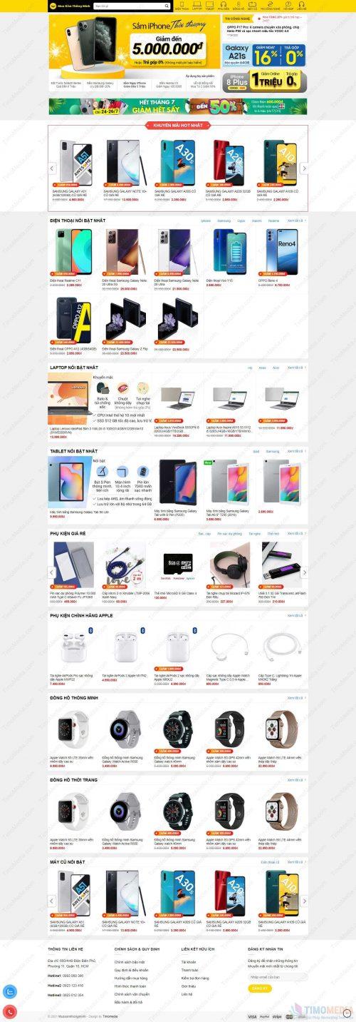 Mẫu website bán hàng 26